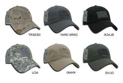 "Tonal Embroidered American Flag Tactical Baseball Cap Hat ""R"