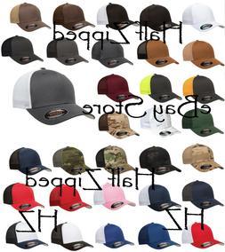 Flexfit Trucker Cap Fitted Mesh Hat 6511 Baseball Hat - One
