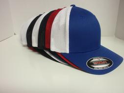 TRUCKER FLEXFIT MESH CAP PLAIN BLANK BASEBALL HAT FLEX FIT C