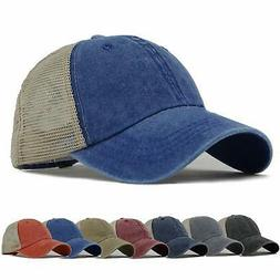 HH HOFNEN Trucker Hat Adjustable Vintage Mesh Baseball Cap f