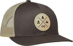 trucker hat go outdoors brown khaki