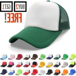 Trucker Hat Mesh Foam Cap Snapback Baseball Adjustable Bill