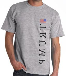 TRUMP AMERICAN FLAG GRAY T-SHIRT / Baseball Hat Combo S,M,L,