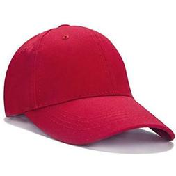 Unisex Kids Plain Cotton Adjustable Low Profile Baseball Cap