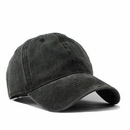 HH HOFNEN Unisex Twill Cotton Baseball Cap Vintage Adjustabl