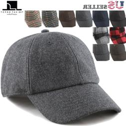 The Hat Depot Unisex Wool Blend Baseball Cap Hat with Adjust