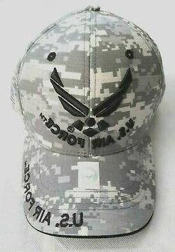 United States Air Force Camo Baseball Hat Cap Top Level Mens