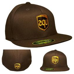 UPS FLEXFIT Style 6210/Flat Bill Embroidered on Front & Back