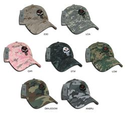 "US Navy Seals Punisher Skull Baseball Cap Hat Camo ""Rapid Do"
