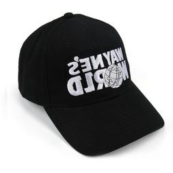 US SHIP Wayne's World Black Embroidered Cap Hat Baseball Hat
