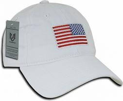 White USA American Flag Baseball Cap Graphic Relaxed Patriot