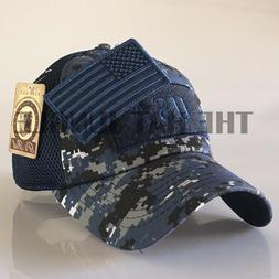 USA American Flag Patch Hat US Military Tactical Detachable