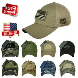 USA American US Flag Patch Cap Mesh Trucker Tactical Operato