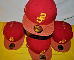 USC NEW ERA RED/GOLD USC Trojans Baseball cap Hat 59fifty Fi