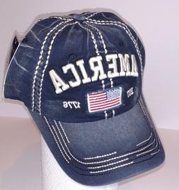 Kbethos Vintage Distressed AMERICA FLAG Baseball Cap Hat, Wa