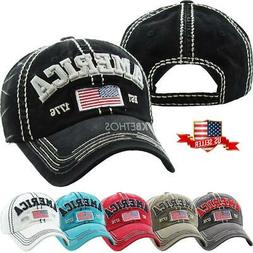 Vintage Distressed Hat Baseball Cap - AMERICA - KBETHOS
