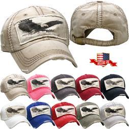 Vintage Distressed Hat Baseball Cap - EAGLE - KBETHOS