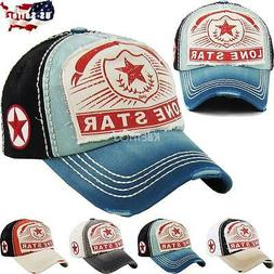 Vintage Distressed Hat Baseball Cap - LONE STAR - KBETHOS