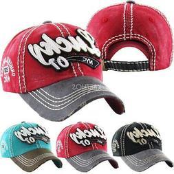 Vintage Distressed Hat Baseball Cap - LUCKY - KBETHOS