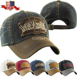 vintage distressed hat baseball cap rock n