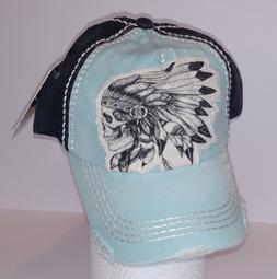 KBETHOS Vintage Distressed INDIAN SKULL Baseball Cap Hat, NW
