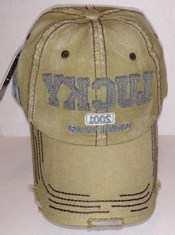 vintage distressed lucky washed baseball cap hat