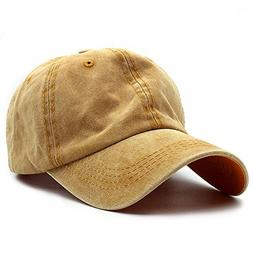 HH HOFNEN Unisex Twill Cotton Baseball Cap Vintage Adjustabl
