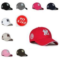 White NY New York Yankees Hats Caps Mens Womens Baseball Cap