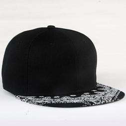 White Paisley Pattern Black <font><b>Hat</b></font> New Fash