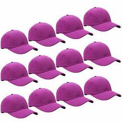 Falari Wholesale 12-Pack Baseball Cap Adjustable Size Plain