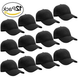 Wholesale Lot Classic Plain Baseball Cap Hat Adjustable Size