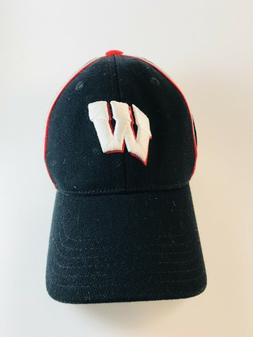 Wisconsin Badgers Black Kids Baseball Style Fitted Hat by Ad