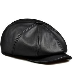 Women Autumn Winter Pumpkin Hat Baseball Cap Leather Hat  Be
