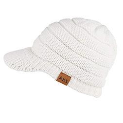 Byyong Women Men Winter Crochet Hat Knit Hat Warm Baseball C