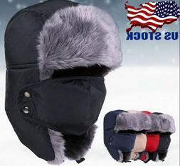 Women's&Men's Winter Russian Hat Warm Hats Snow Ski Hats Wat
