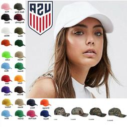 Womens Plain Baseball Cap Adjustable Solid Hat Polo Style St