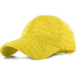 9Proud YW5 Women Lady Summer Hat Sun Golf Glitter Sequin Bas